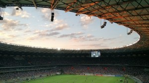 soccer-stadium-with-clouds-in-sky-during-match